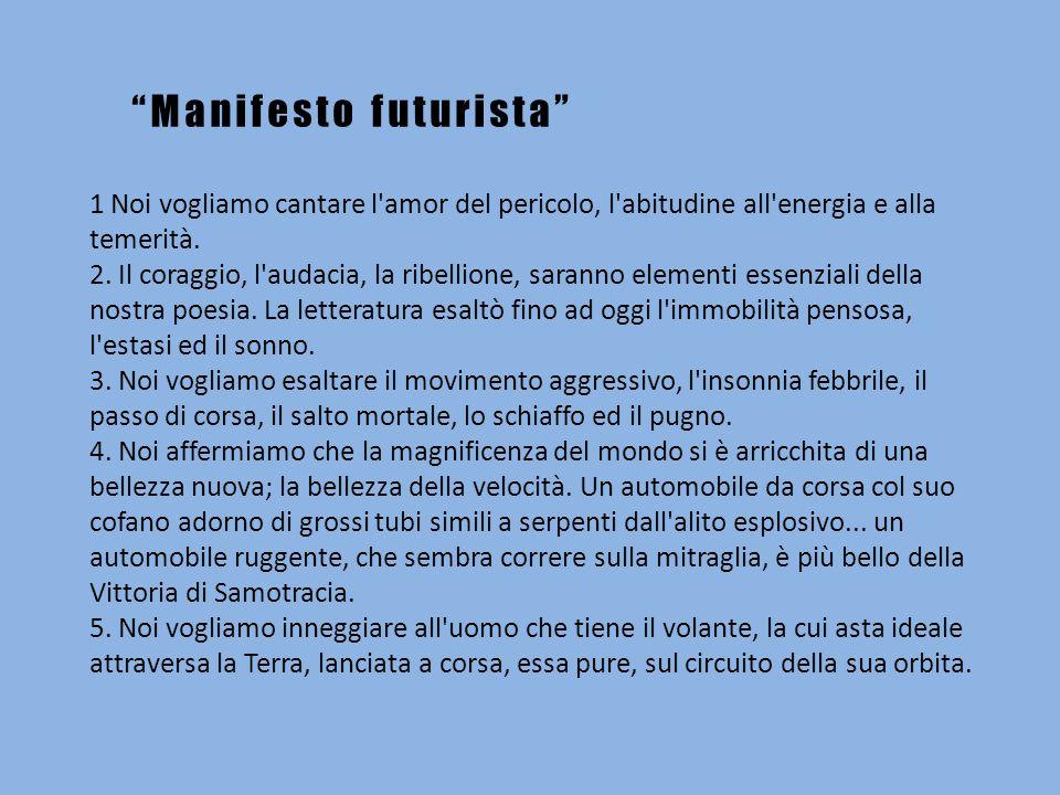 Manifesto futurista