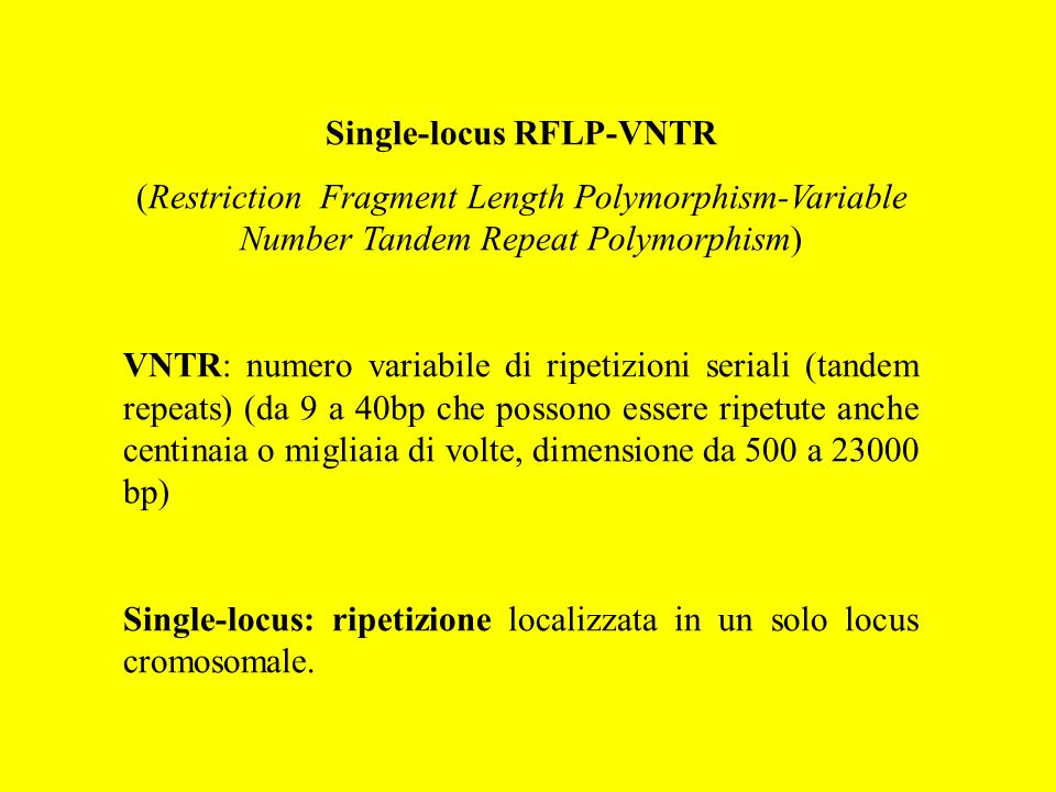 Single-locus RFLP-VNTR