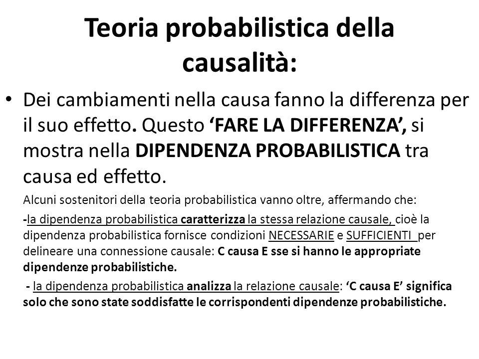 Teoria probabilistica della causalità:
