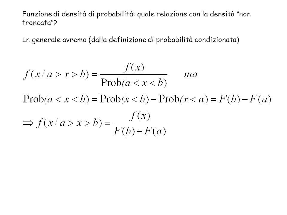 Funzione di densità di probabilità: quale relazione con la densità non troncata