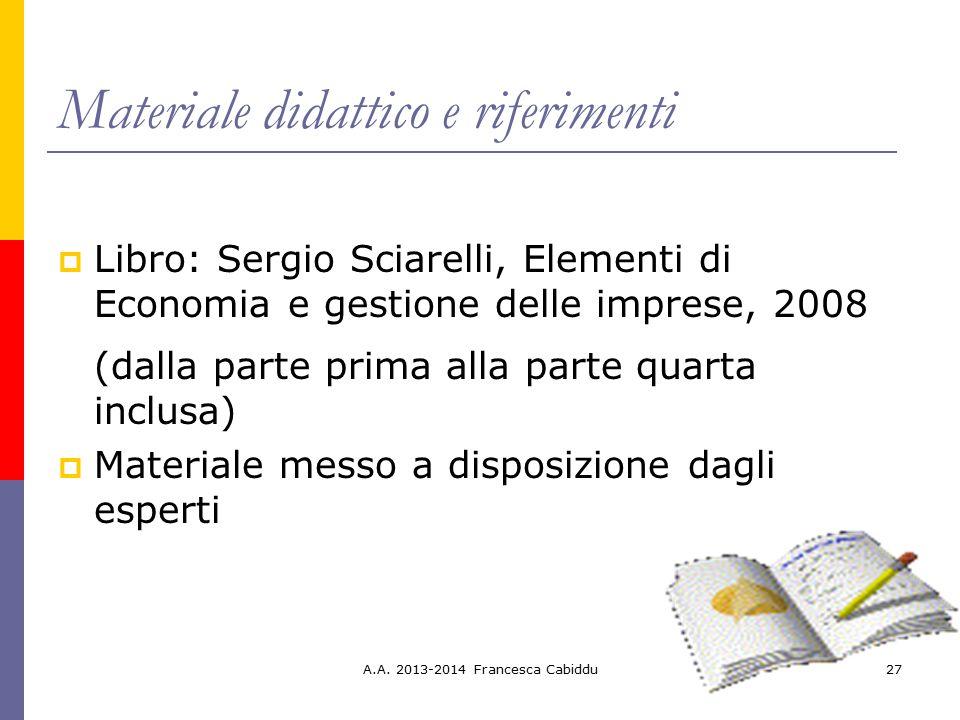 Materiale didattico e riferimenti