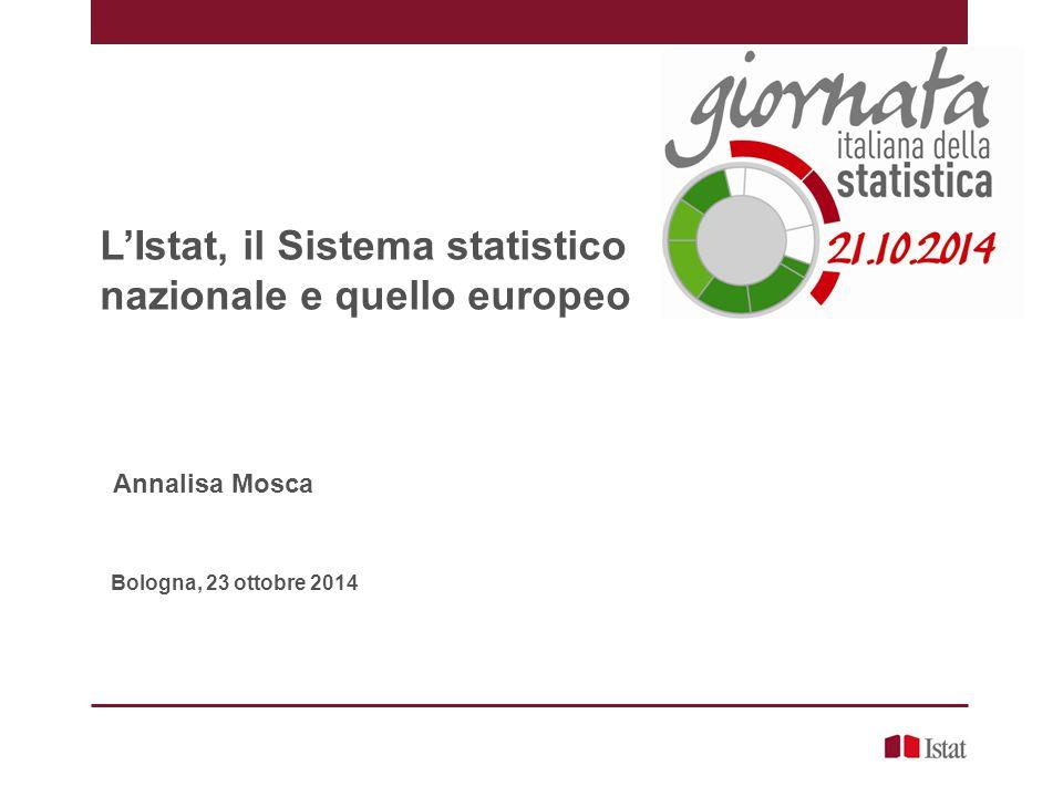L'Istat, il Sistema statistico nazionale e quello europeo
