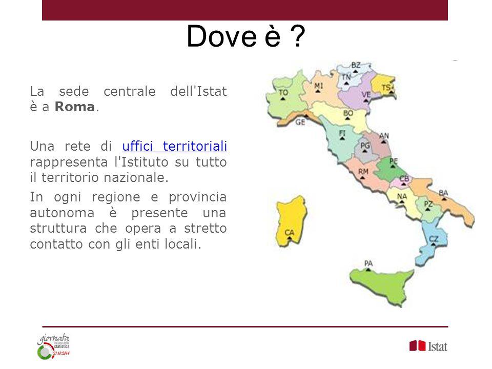 Dove è La sede centrale dell Istat è a Roma.