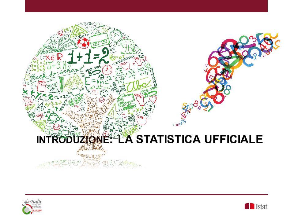 INTRODUZIONE: LA STATISTICA UFFICIALE