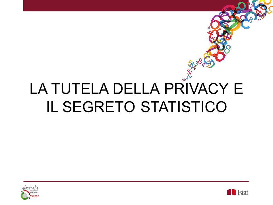 LA TUTELA DELLA PRIVACY E IL SEGRETO STATISTICO