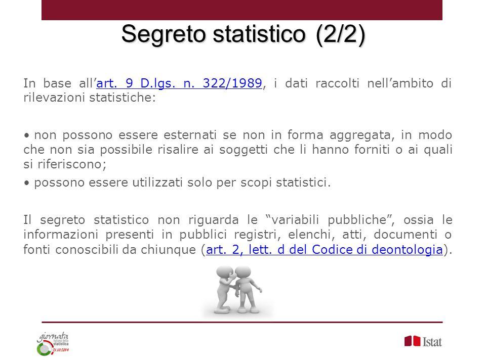 Segreto statistico (2/2)