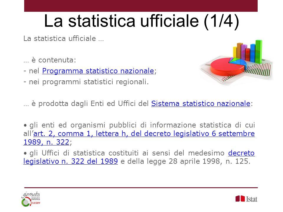 La statistica ufficiale (1/4)