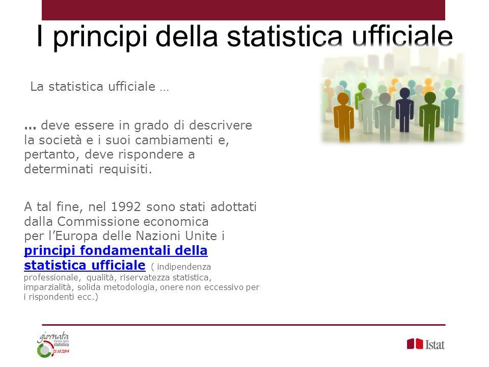 I principi della statistica ufficiale