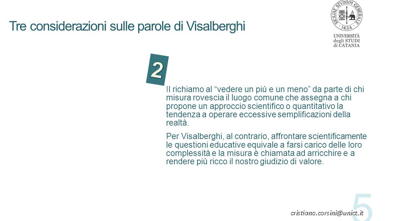 Tre considerazioni sulle parole di Visalberghi