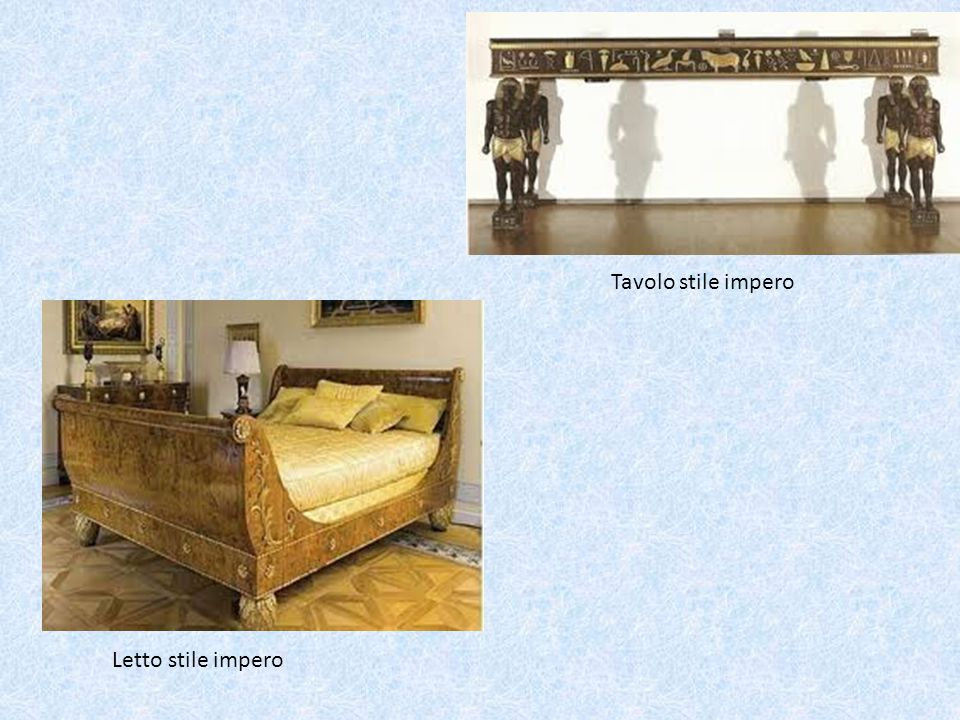 Tavolo stile impero Letto stile impero