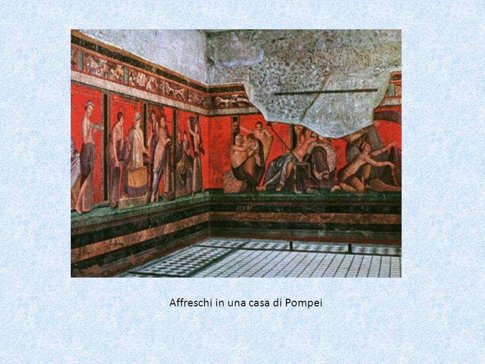 Affreschi in una casa di Pompei