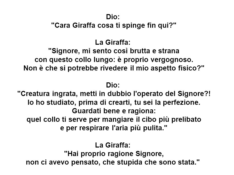Cara Giraffa cosa ti spinge fin qui La Giraffa:
