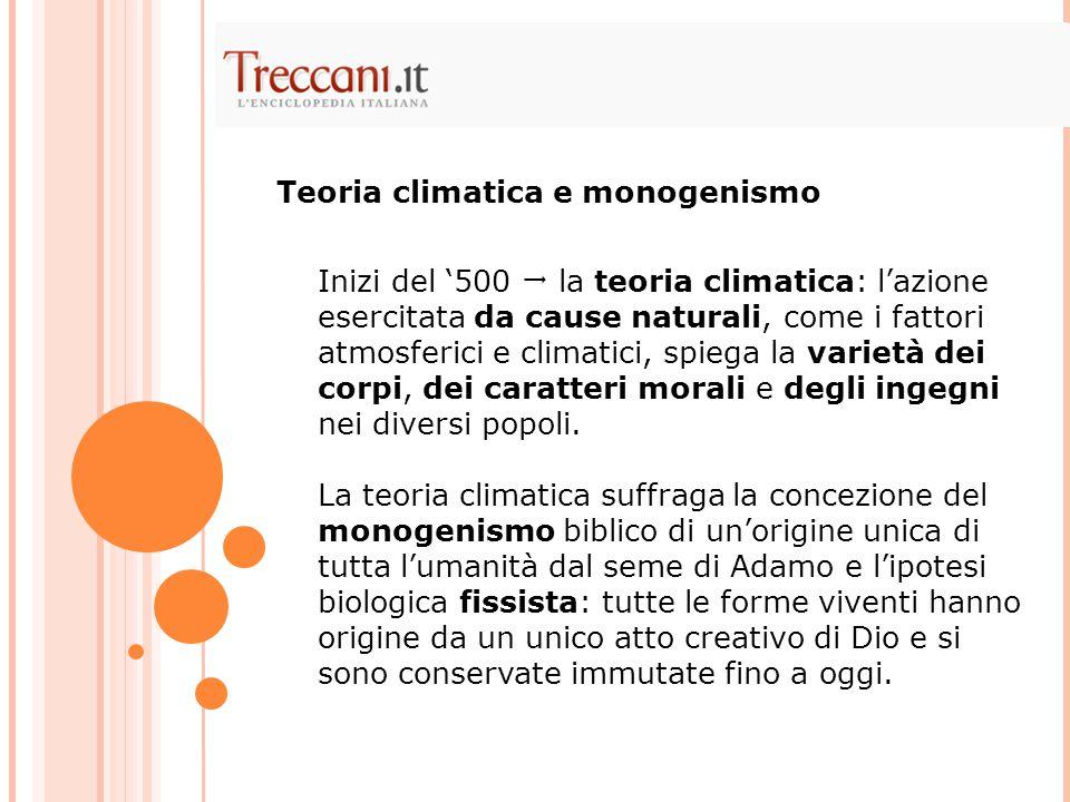 Teoria climatica e monogenismo
