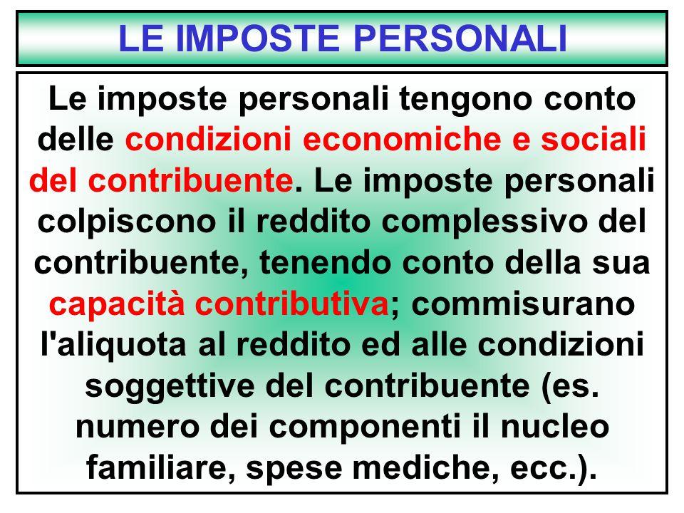 LE IMPOSTE PERSONALI