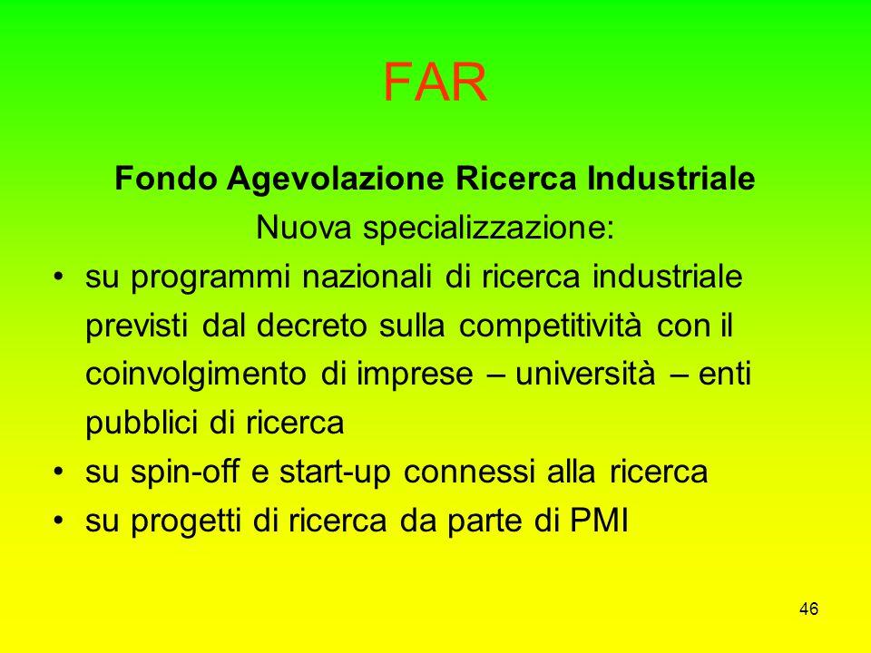 Fondo Agevolazione Ricerca Industriale