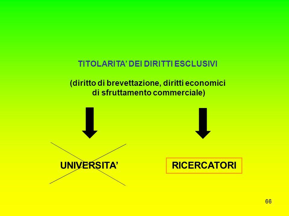 UNIVERSITA' RICERCATORI