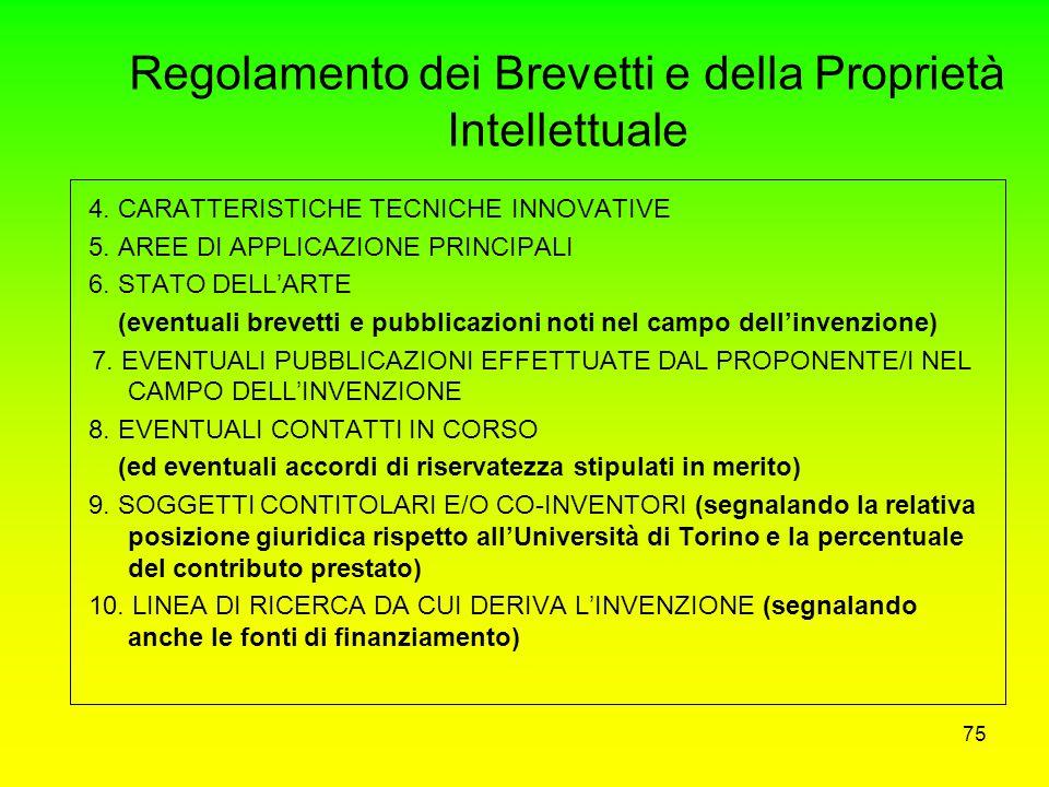 Regolamento dei Brevetti e della Proprietà Intellettuale