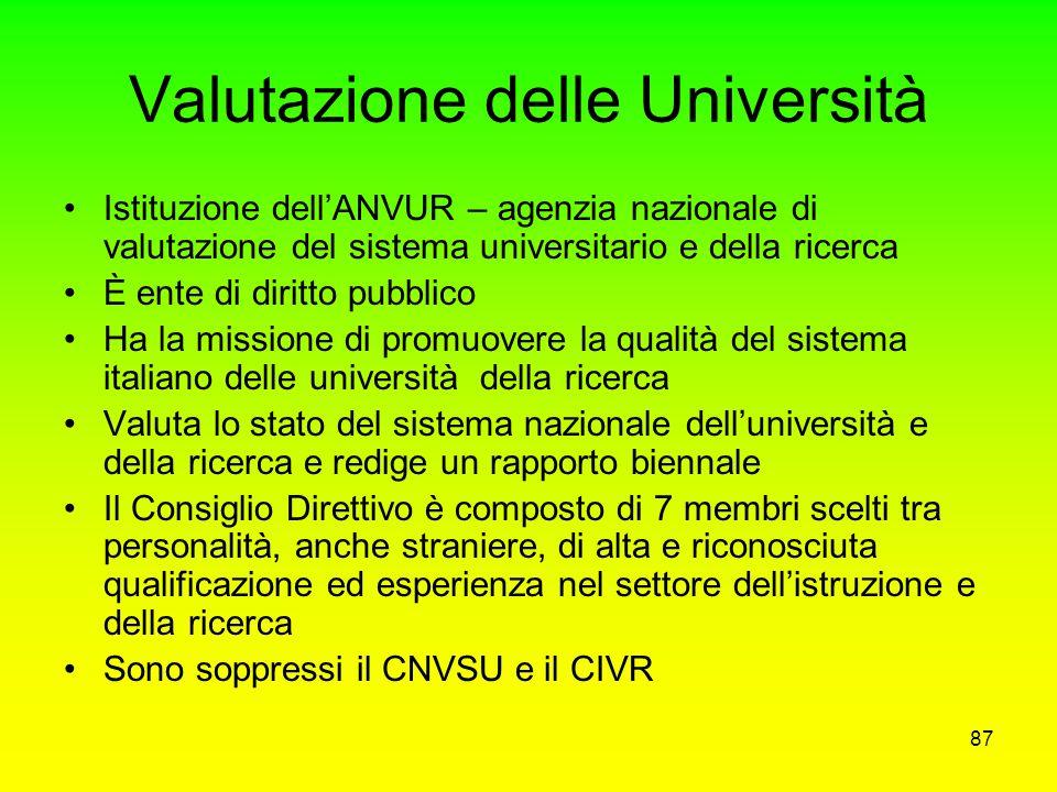 Valutazione delle Università
