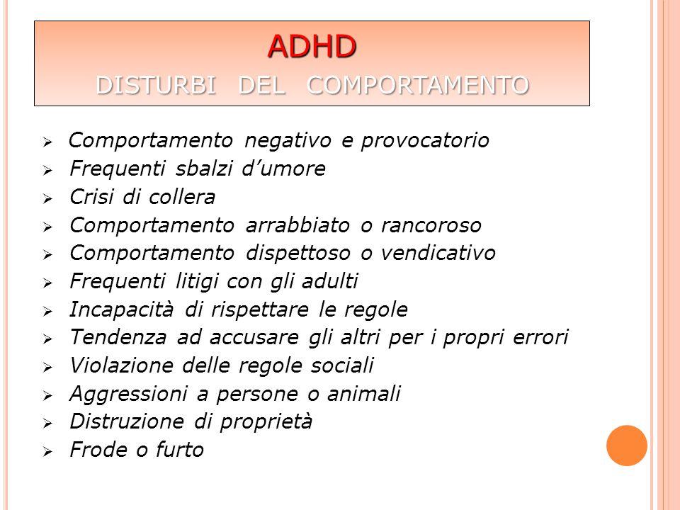 ADHD disturbi del comportamento
