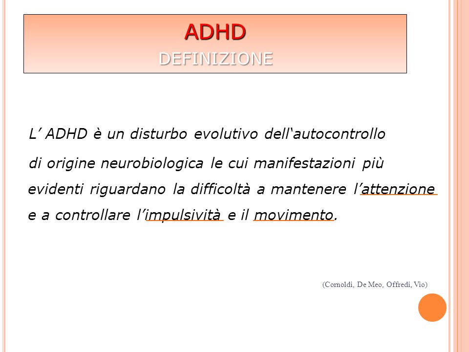 ADHD definizione.