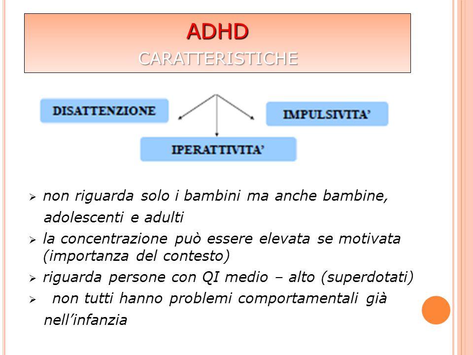 ADHD caratteristiche non riguarda solo i bambini ma anche bambine,