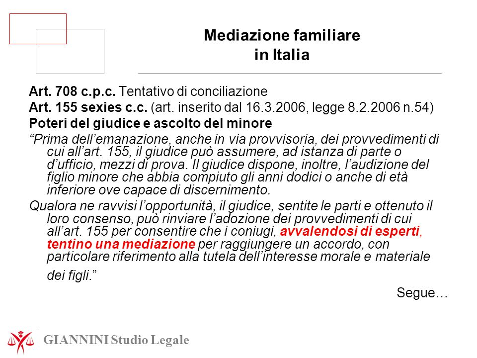 Mediazione familiare in Italia