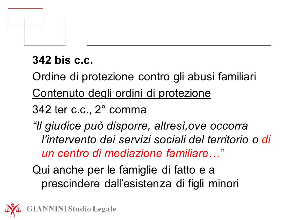 Ordine di protezione contro gli abusi familiari