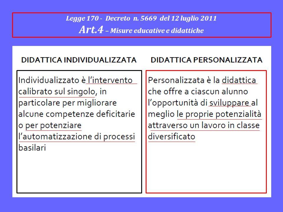 Art.4 – Misure educative e didattiche