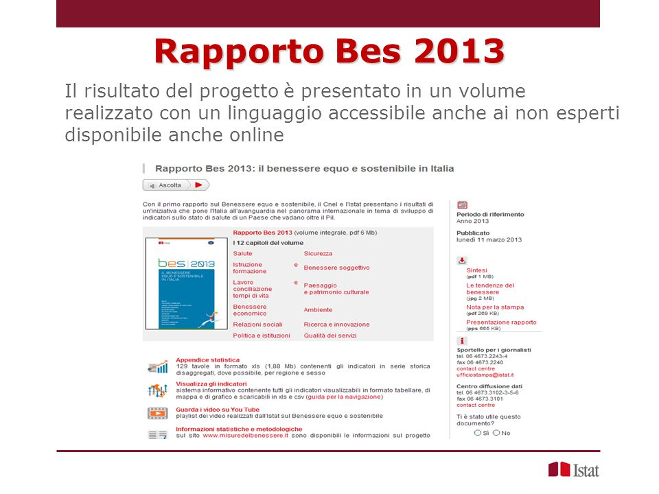 Rapporto Bes 2013