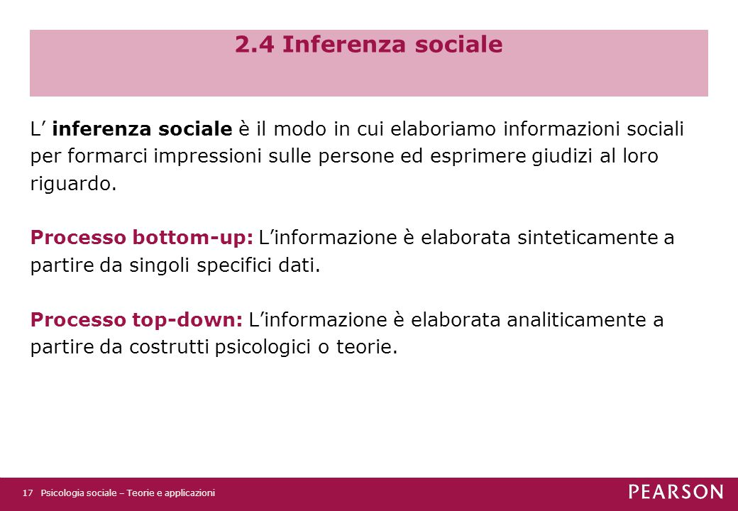 2.4 Inferenza sociale