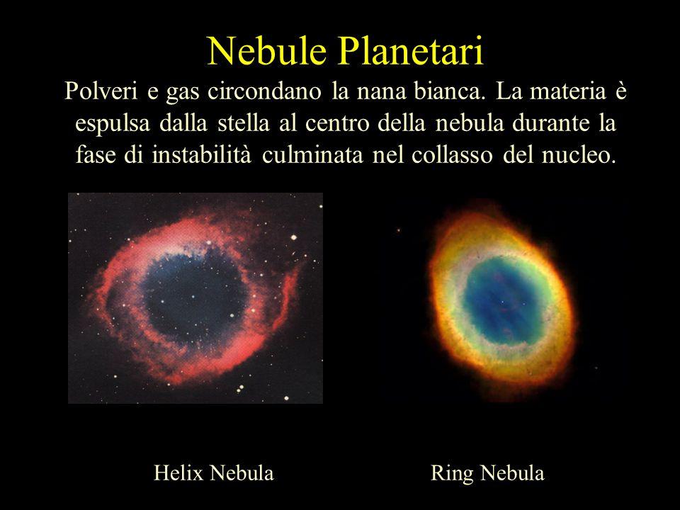 Nebule Planetari Polveri e gas circondano la nana bianca