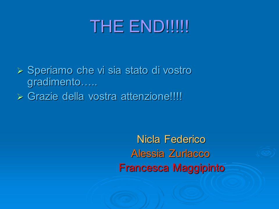 THE END!!!!! Speriamo che vi sia stato di vostro gradimento…..
