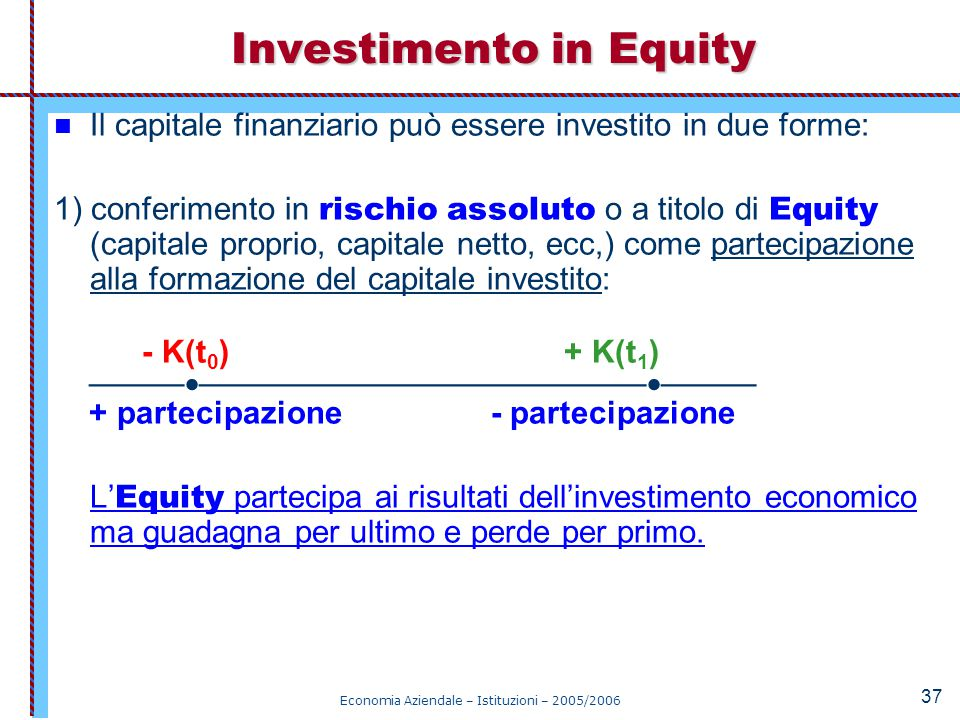 Investimento in Equity