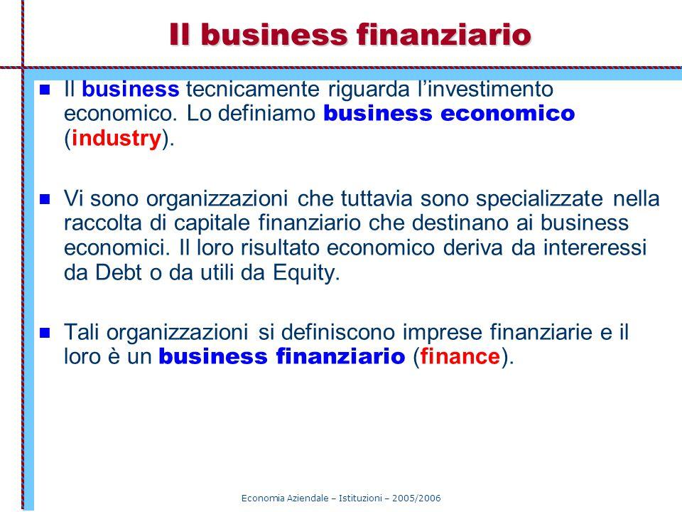 Il business finanziario