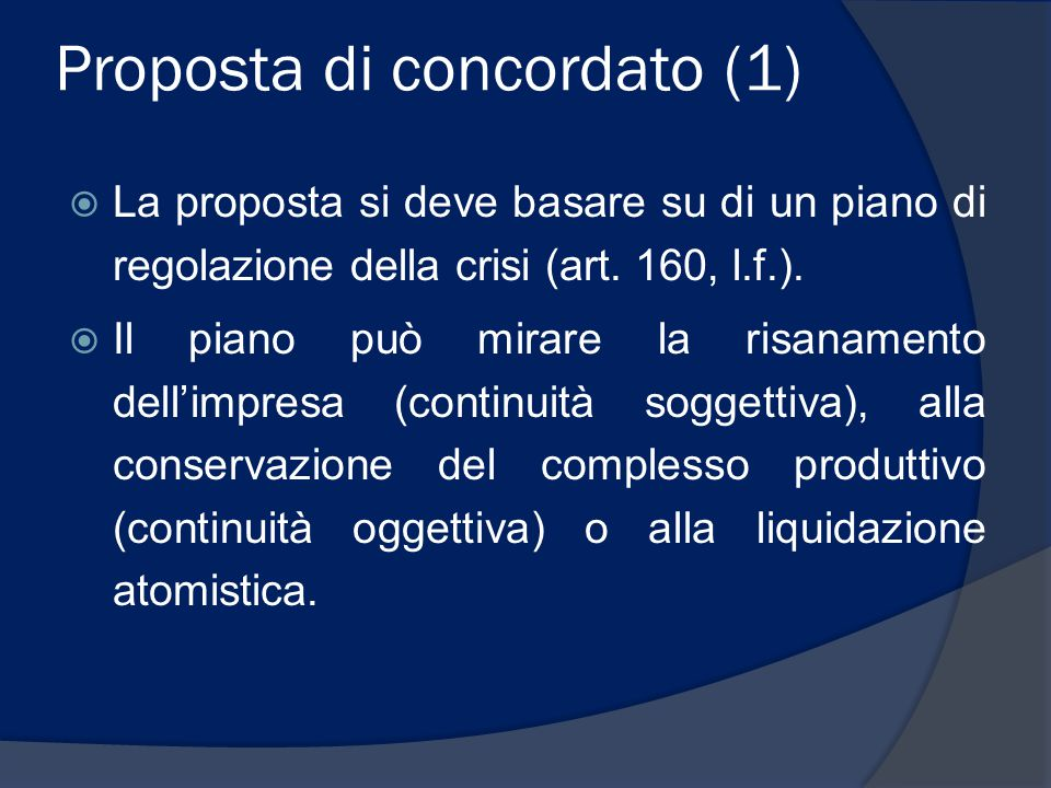 Proposta di concordato (1)