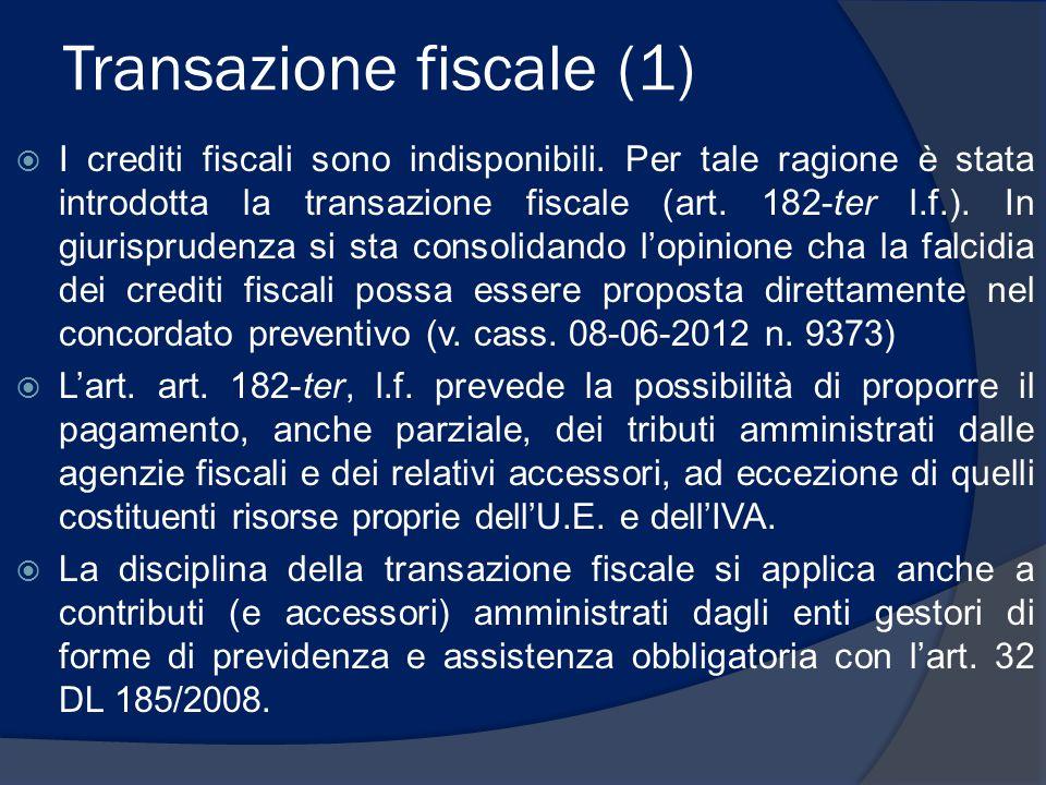 Transazione fiscale (1)