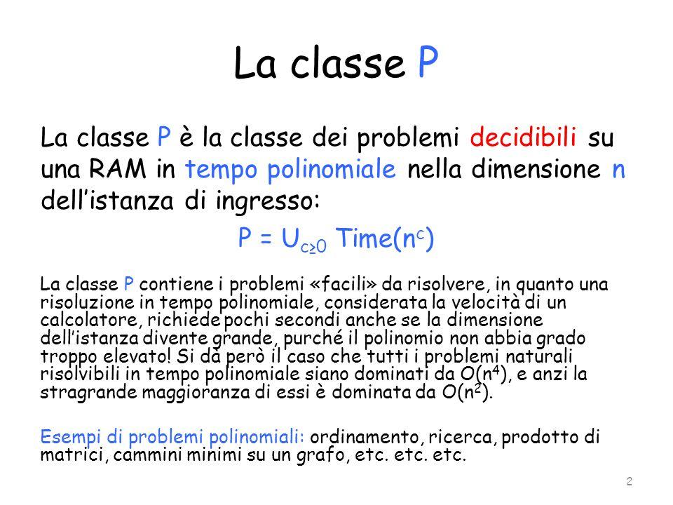 La classe P