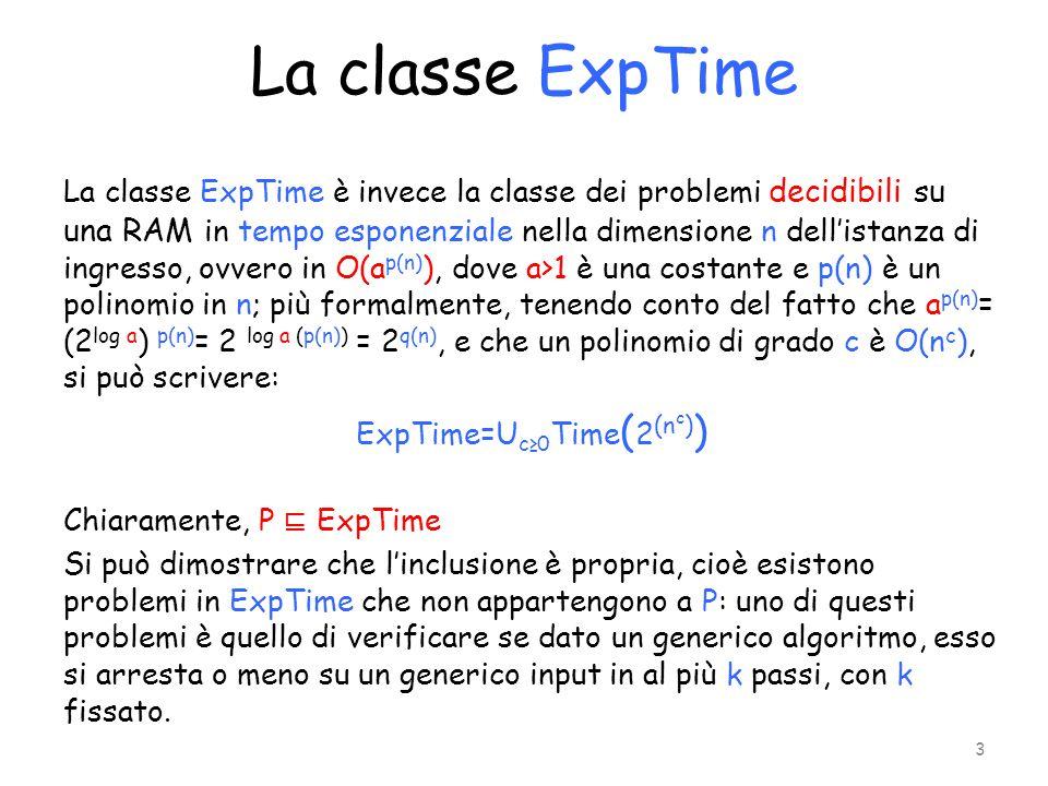 La classe ExpTime