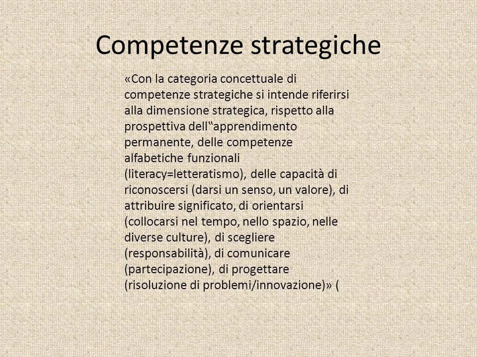Competenze strategiche