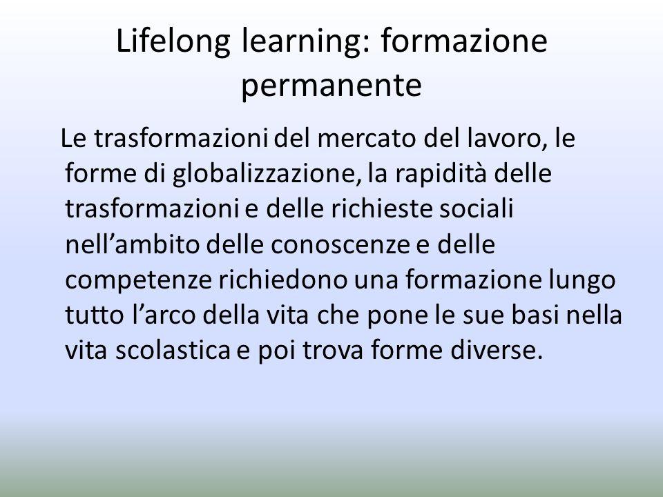 Lifelong learning: formazione permanente