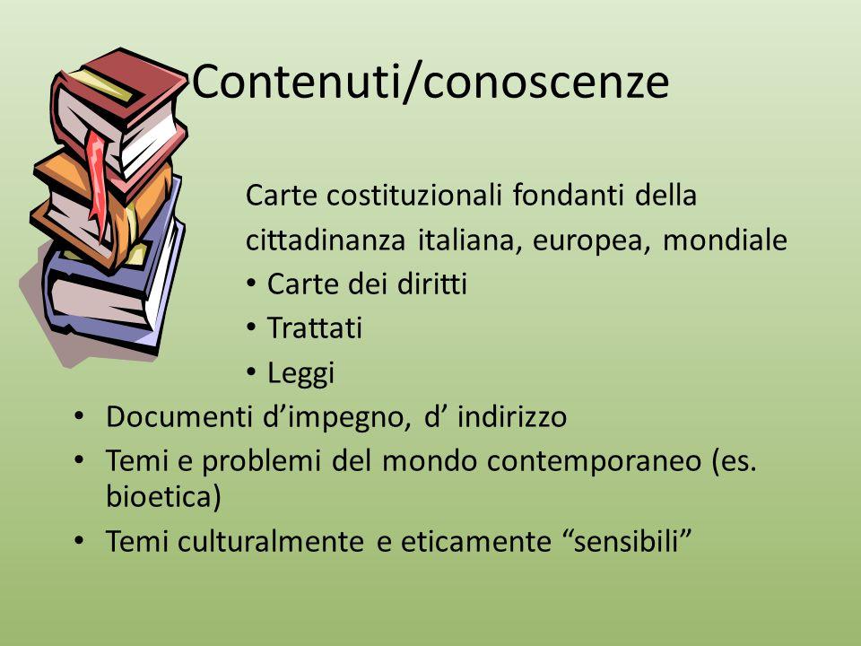 Contenuti/conoscenze