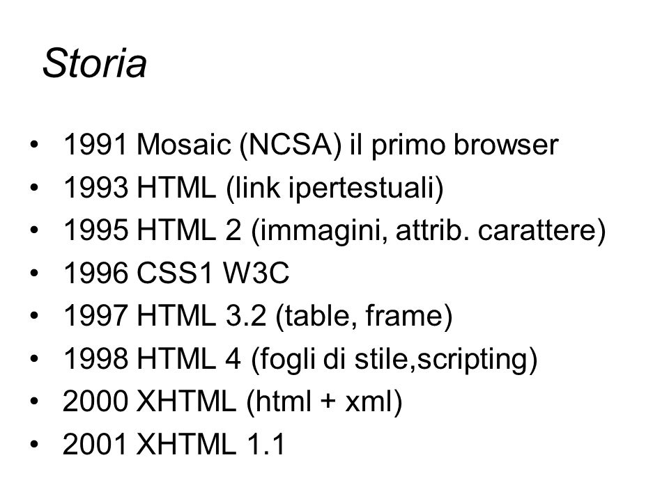 Storia 1991 Mosaic (NCSA) il primo browser