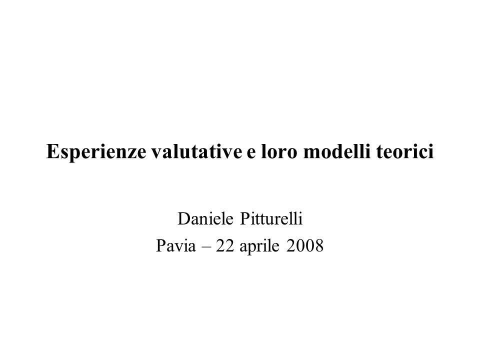 Esperienze valutative e loro modelli teorici