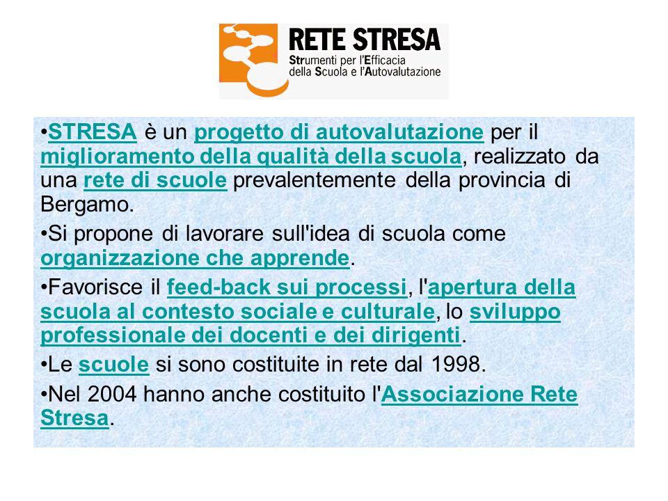 STRESA è un progetto di autovalutazione per il miglioramento della qualità della scuola, realizzato da una rete di scuole prevalentemente della provincia di Bergamo.