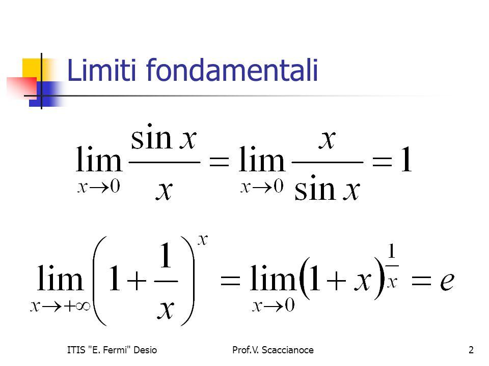 Limiti fondamentali ITIS E. Fermi Desio Prof.V. Scaccianoce