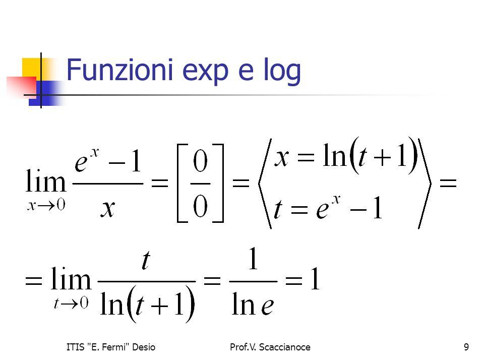 Funzioni exp e log ITIS E. Fermi Desio Prof.V. Scaccianoce