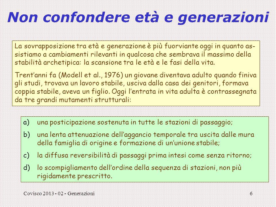 Non confondere età e generazioni