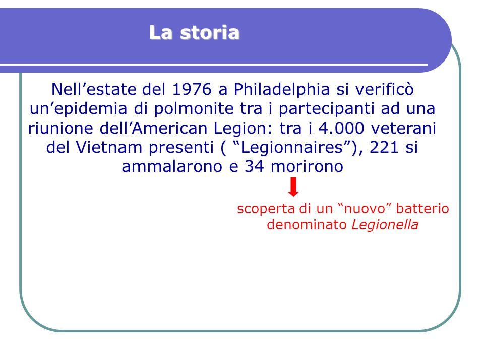 scoperta di un nuovo batterio denominato Legionella