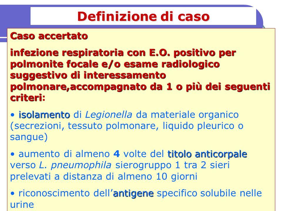 Definizione di caso Caso accertato