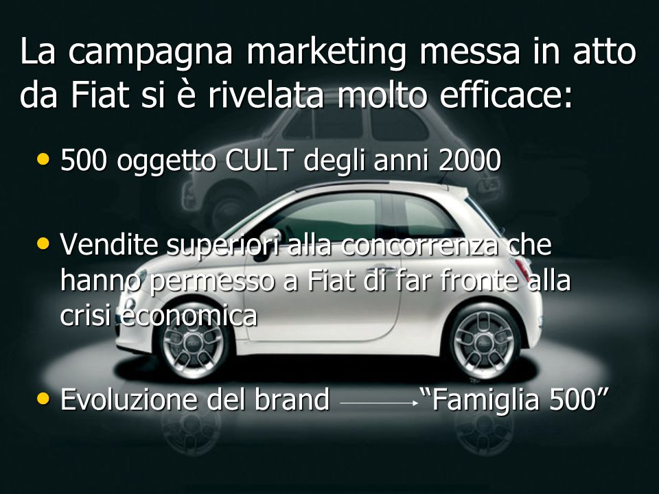 La campagna marketing messa in atto da Fiat si è rivelata molto efficace: